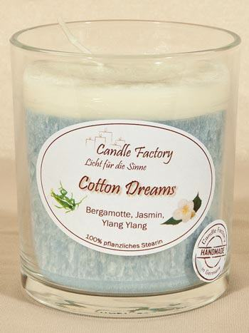 Party Light Cotton Dreams Duftkerze von Candle Factory mit DEM frische Wäscheduft