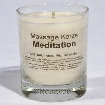 Natur Massagkerze Meditation