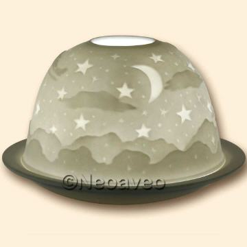 Dome Light, Lithophanie Windlicht, Starlights Windlichter, Dome Lights, im Geschenkkarton, Kerzenfarm Hahn